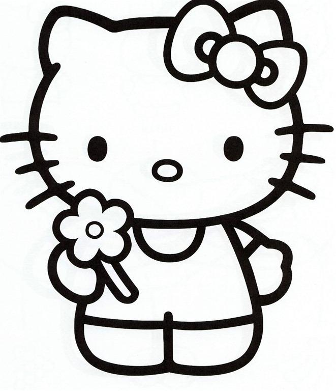 Coloriage à imprimer hello kitty anniversaire