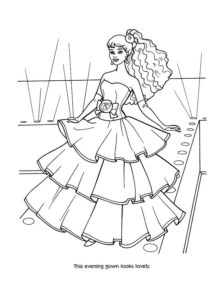 coloriage barbie noel en ligne
