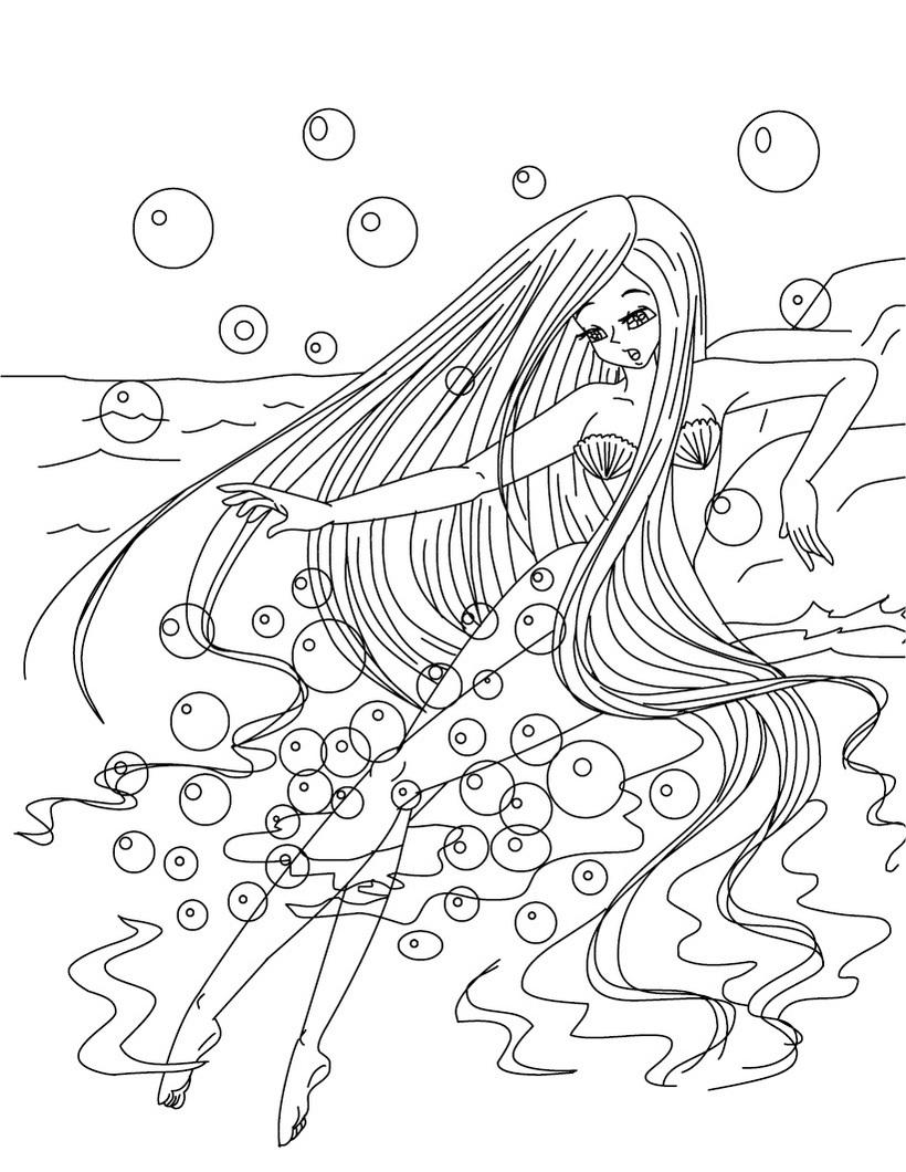 coloriage barbie sirene 2