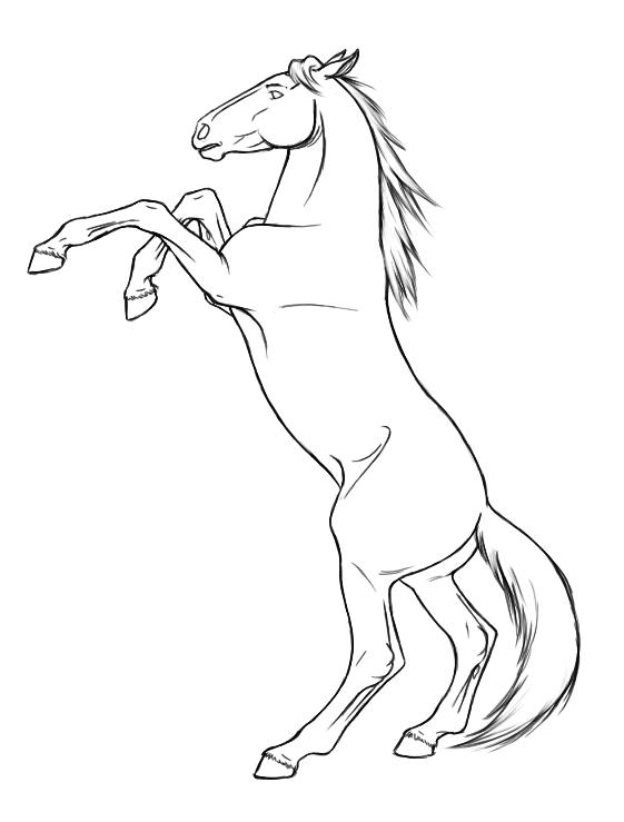 Coloriage cheval qui se cabre imprimer