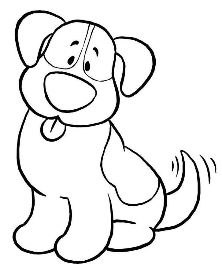 Coloriage chien facile ancenscp - Dessin chien facile ...