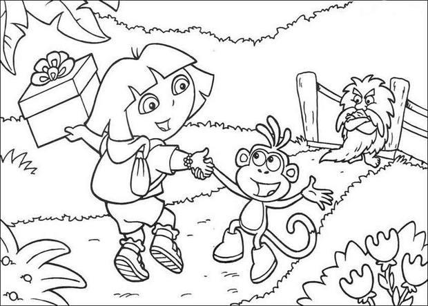 coloriage dora babouche en ligne - Dora Babouche