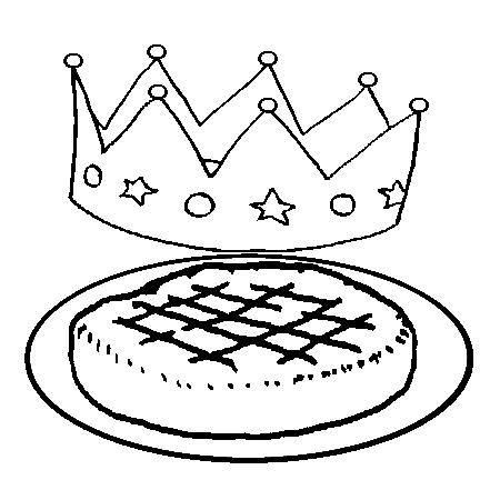 Coloriage galette des rois