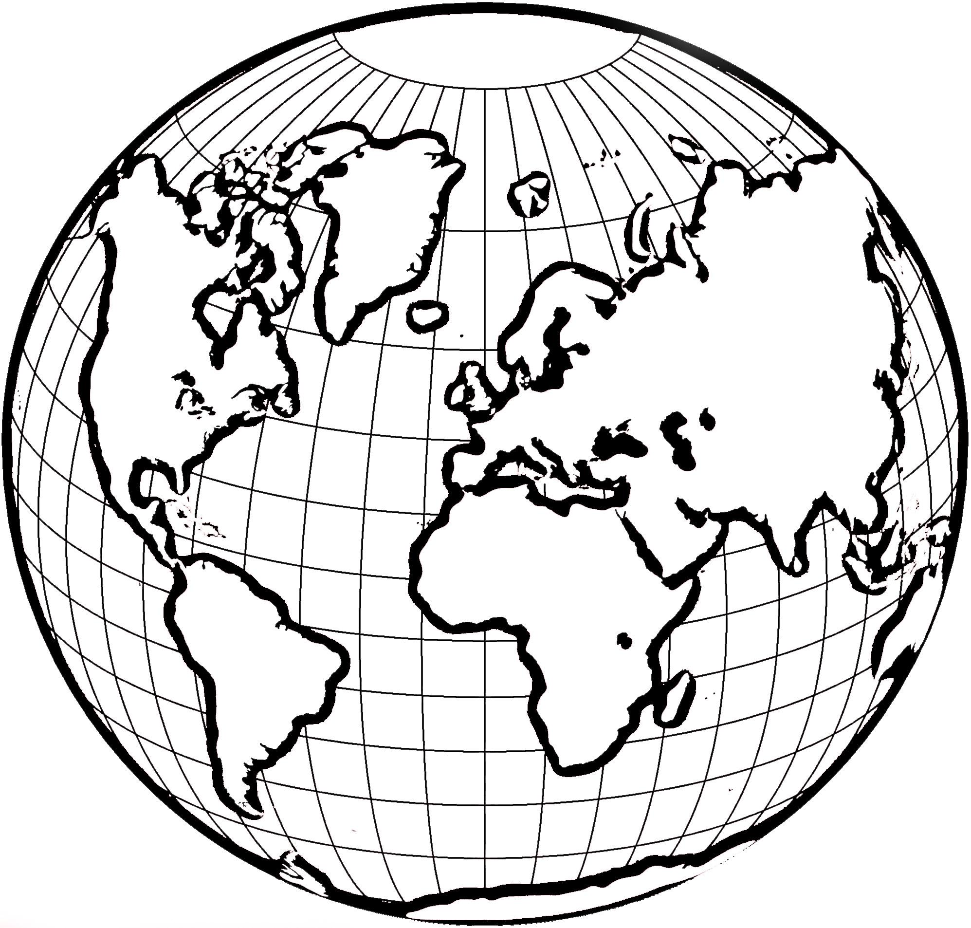 Coloriage globe