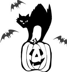 Coloriage halloween chat noir
