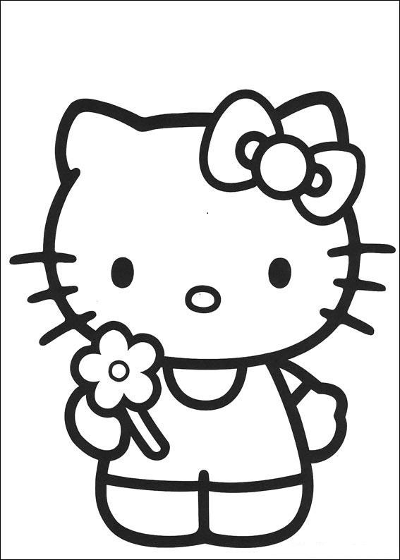 Coloriage hello kitty gratuit
