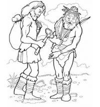 Coloriage homme préhistorique