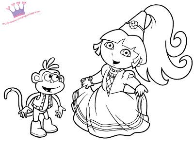 Coloriage a imprimer dora princesse des neiges ancenscp - Dora princesse des neiges ...