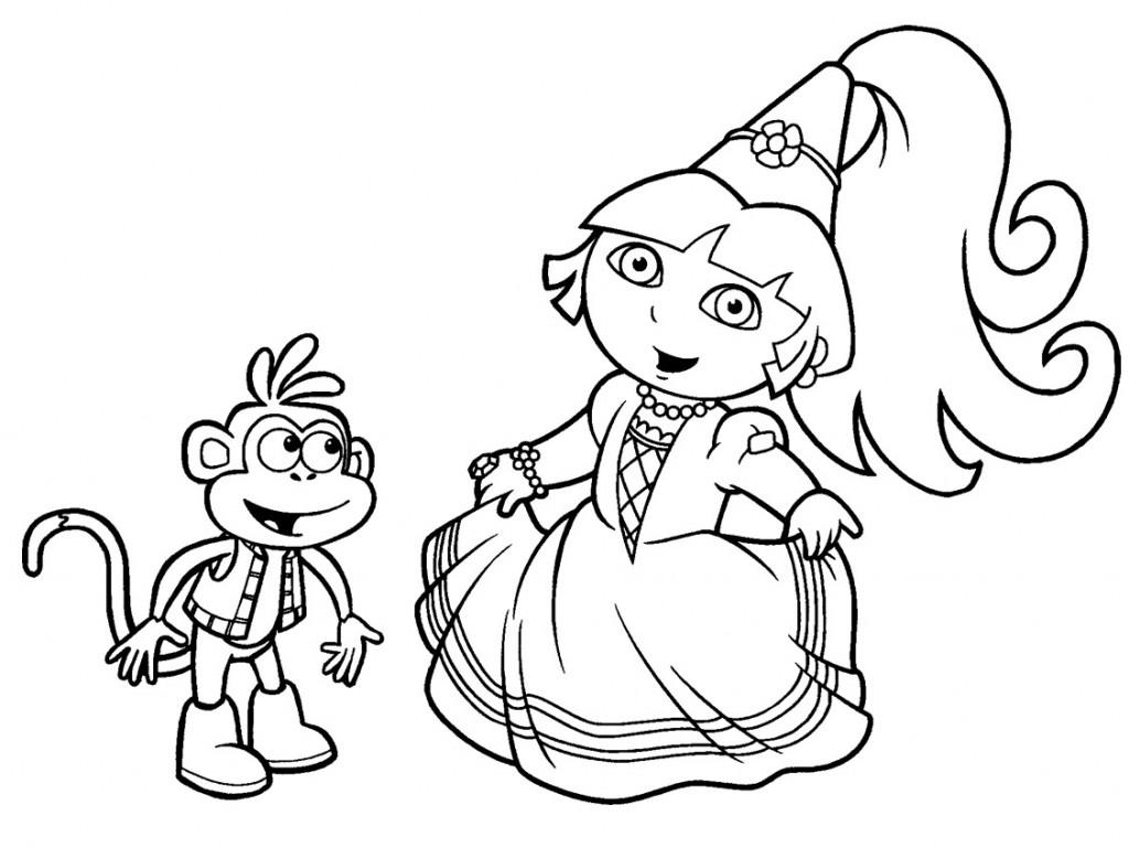 Coloriage imprimer dora princesse