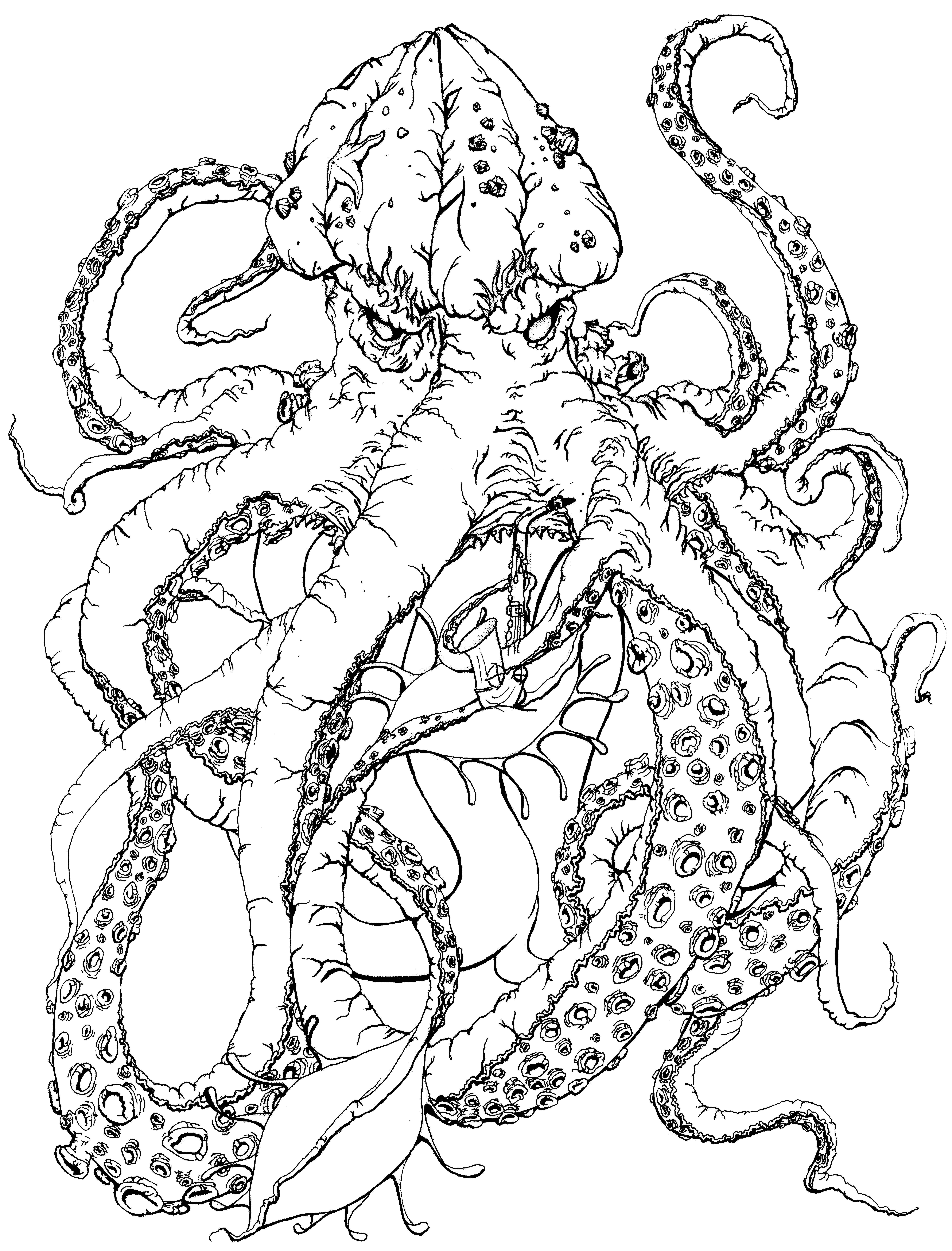 Coloriage kraken