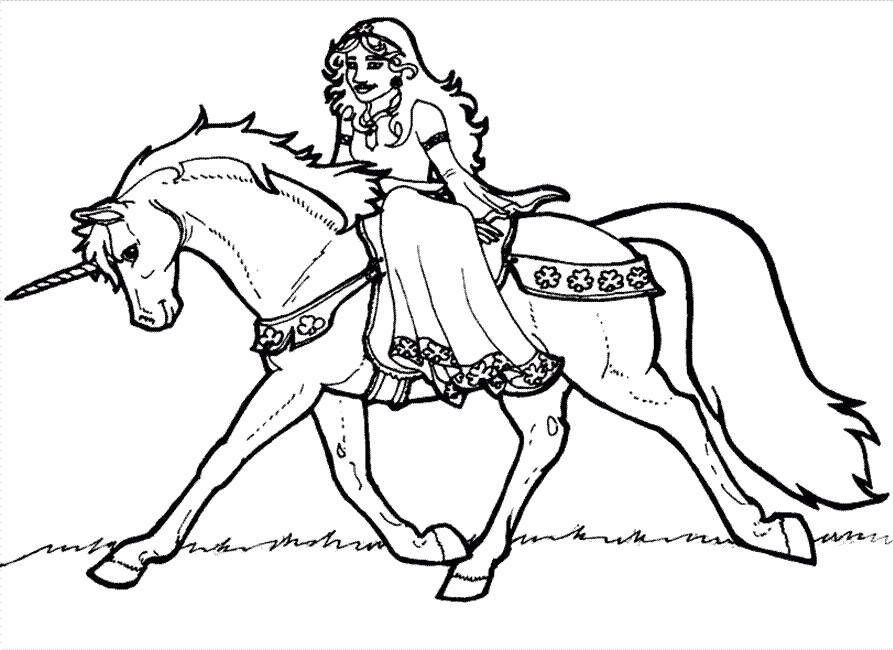 coloriage licorne princesse a imprimer gratuit