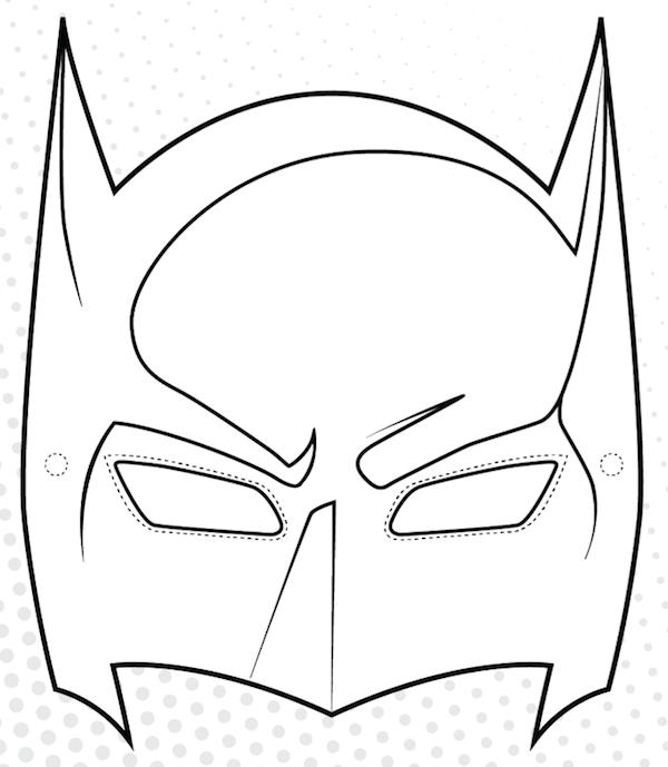 Coloriage Masque Batman Imprimer AncensCP