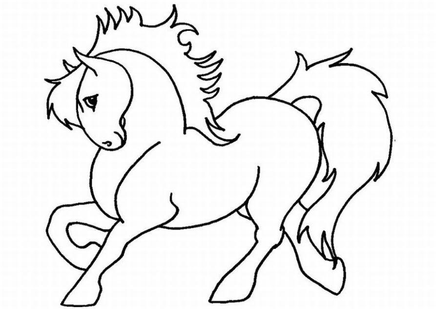 Coloriage poney licorne a imprimer - AncensCP