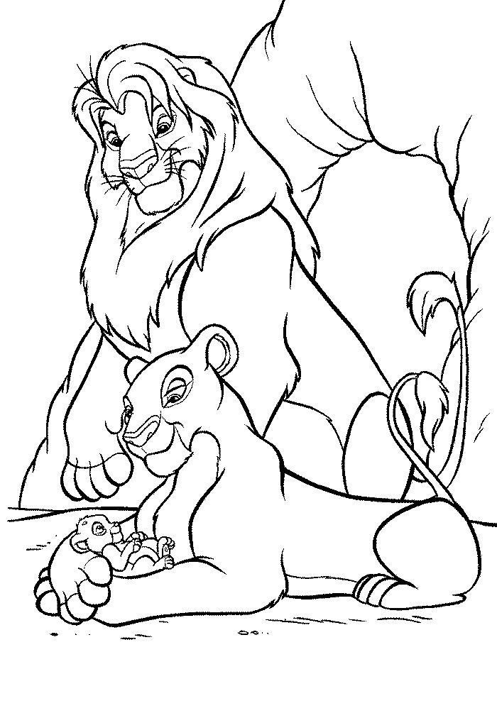 coloriage roi lion 2 imprimer