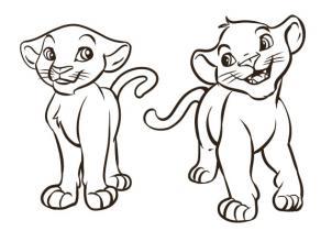 Coloriage Disney Simba Et Nala Laborde Yves